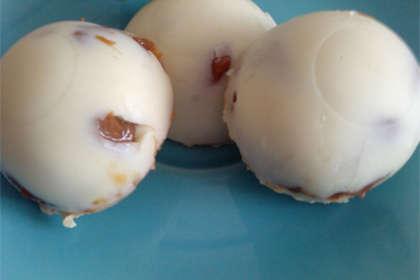 Bombones rellenos de dulce de leche