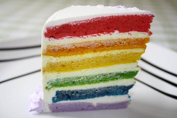 Tarta Arco Iris o Rainbow Cake